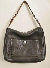 Coach 10132 Chelsea Dark Brown Pebble Leather Turn-lock Shoulder/Satchel Handbag