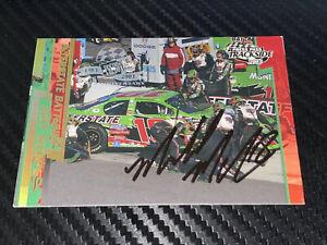 "Michael ""FATBACK"" McSwain autographed PRESS PASS TRACKSIDE 2003 WINSTON CUP Card"