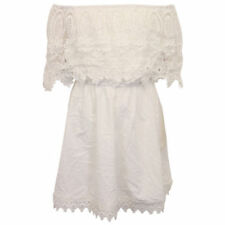 Vestidos de niña de 2 a 16 años blancos 100% algodón sin mangas