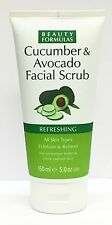 Beauty Formulas Cucumber & Avocado Facial Scrub Refreshing  All Skin Types 150ml
