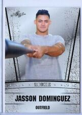 """JASSON DOMINGUEZ 2019 LEAF """"1ST EVER PRINTED"""" SILVER EDITION ROOKIE CARD!"""