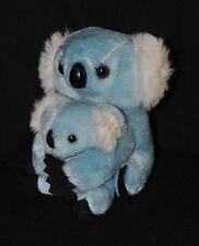 Peluche doudou koala & son petit C&A BABY CLUB bleu blanc noir 11 & 18 cm TTBE