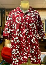 The Hawaiian Original MENS SIZE XL Red Floral