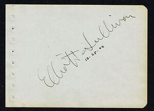 Elliott Sullivan (d. 1974) signed autograph 4.5x6.5 Album Page The Great Gatsby