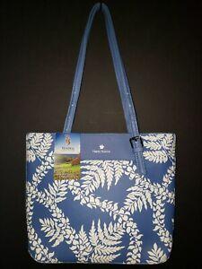Happy Wahine Wailea Golf Maui Hawai'i Anny Blue White Medium Tote Bag-NWT!