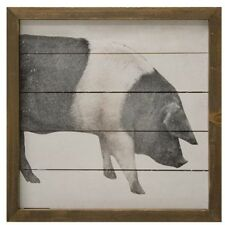 Rustic Framed Farmhouse Pig art Vintage Farmhouse Wall Decor