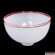 "1987 IBEX David Levi Studio Large 10 1/4"" Smoky Orange/Red Clear Crested Bowl"