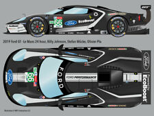 2019 #66 Ford GT retro-livery Le Mans 24hr water transfer decals 1/24 for Revell