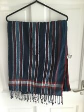 Crew Clothing Blue/red/white Striped Scarf