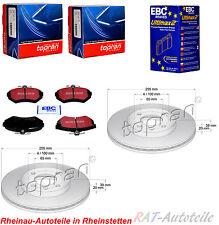 Bremsscheiben TOPRAN+EBC Vorne 256mm SEAT AROSA CORDOBA IBIZA 2 3 INCA TOLEDE 1
