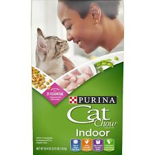New listing Purina Indoor Cat Chow Adult Cats 25 Vitamins and Minerals 3.15 lbs.