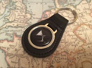 CITROEN DS Quality Black Real Leather Keyring