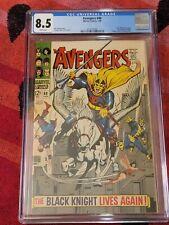 Avengers #48 CGC 8.5 - 1st App Dane Whitman As Black Knight !  Marvel 1968!