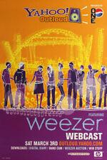 Weezer 3/3/2001 Yahoo Outloud Webcast Online Concert Poster
