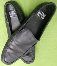 LACOSTE Men's Black All Leather SlipOn Shoes Loafers Driving Moccasins Size 10