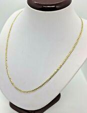"3mm 14k Solid Gold Men's Women's Cuban Link Chain Necklace 16""-30"""