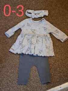 Disney Dumbo outfit dress/top leggings headband 0-3months baby girls