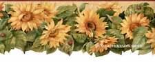 Scalloped Sunflower with ladybug Die Cut Sunflower Flower Wallpaper Border Decor