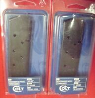 2 Colt Model 1911 .45 acp  7 round New blued steel blue magazines Government Mdl