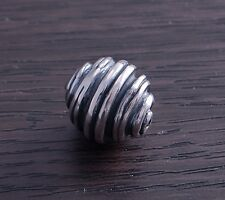 Sterling Silver Artistic Bead Swirl design 14mm (sold individually) DB4H