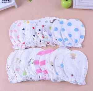 6PC/Lot Newborn Baby Infant Soft Cotton Handguard Anti Scratch Mittens Gloves UK