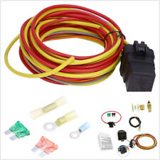 Car Single Electric Cooling Fan Wiring Harness Install Kit Thermostat 40A Relay