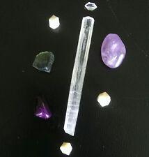 IT'S TIME TO SHINE CRYSTAL KIT! Moldavite Natrolite Sugilite Rhodizite Auralite+
