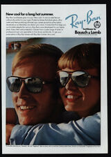 1975 RAY-BAN Sunglasses - BAUSCH & LOMB - Cool For Hot Summer - VINTAGE AD