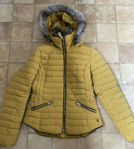 Joules Ladies Mustard Yellow Winyer Jacket, Size 8, Very Good Condition