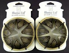 Illuma Lid Yankee Candle Bronze Antique Jar Topper Set of Two (2) NEW