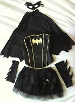 WOMAN'S LADIES BAT GIRL SUPER HERO  FANCY DRESS COSTUME OUTFIT 6 8 10 12 14 16