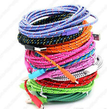 3FT 6FT 10FT FABRIC Micro USB CHARGING Cable for Samsung Galaxy S4 S2 S3 HTC LG