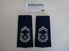 Pair Of US Air Force Senior MASTER SERGEANT E-8 Epaulets Shoulder Badges (Male)
