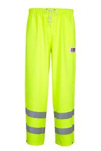 Stormline 757 Yellow Hi-Viz PVC Waterproof Workwear Class 1 Over Trousers
