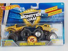 Hot Wheels 2018 Monster Jam Demolition Doubles Earth Shaker vs. Wrecking Crew
