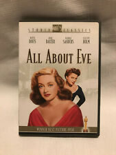All About Eve Dvd Bette Davis, Great Condition!