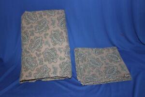 Ralph Lauren Brown Paisley  King Flat Sheet & 1 King Pillowcase VGUC   BOX E