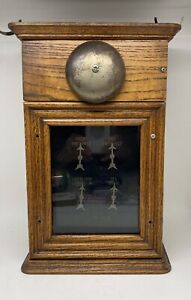 Antique Oak Butler Servant Call Box Annunciator Door Bell