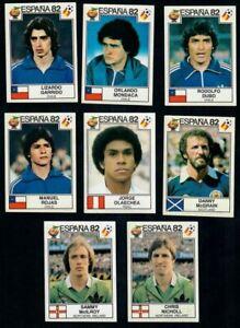 Panini España 82 World Cup Spain Espana 1982 Lot 8 Stickers Original