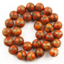 12mm Naranja Facetado Redondo Ágata del crujido suelto espaciador granos para joyería haciendo