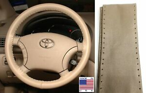 Sand 15 3/4 x 3 7/8 Leather Steering Wheel Cover For Ford & Lincoln