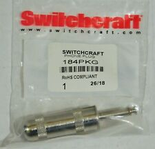 Switchcraft Phone Plug 184 RoHS Compliant Lot Of Ten