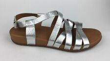 FitFlop Womens Silver Gladiator Ankle Strap Sandals Sz US 9 EU 41