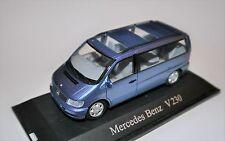 Mercedes V Klasse V 230 Bus Kleinbus blau blu blue metallic, Schuco 1:43 boxed B