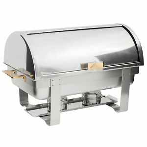 Choice Roll Top Deluxe 8 Qt. Stainless Steel Catering Buffet Party Chafing Dish
