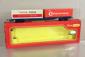 TRIANG HORNBY R422 BR FREIGHTLINER TARTAN ARROW CONTAINERWAY CONTAINER WAGON oa