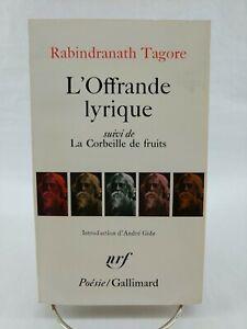 L'Offrande lyrique, Rabindranath Tagore, 1993 Paperback