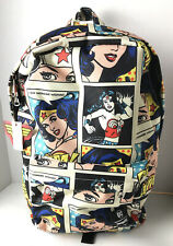 Loungefly x DC Comics Wonder Woman Comic Strip Allover-Print Nylon Backpack NWT