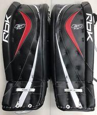 """New Reebok 8k Ice Hockey Goalie Leg Pads size 33"""" senior black red sr equipment"""