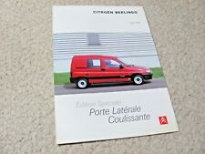 1999 CITROEN BERLINGO (FR) SALES BROCHURE...
